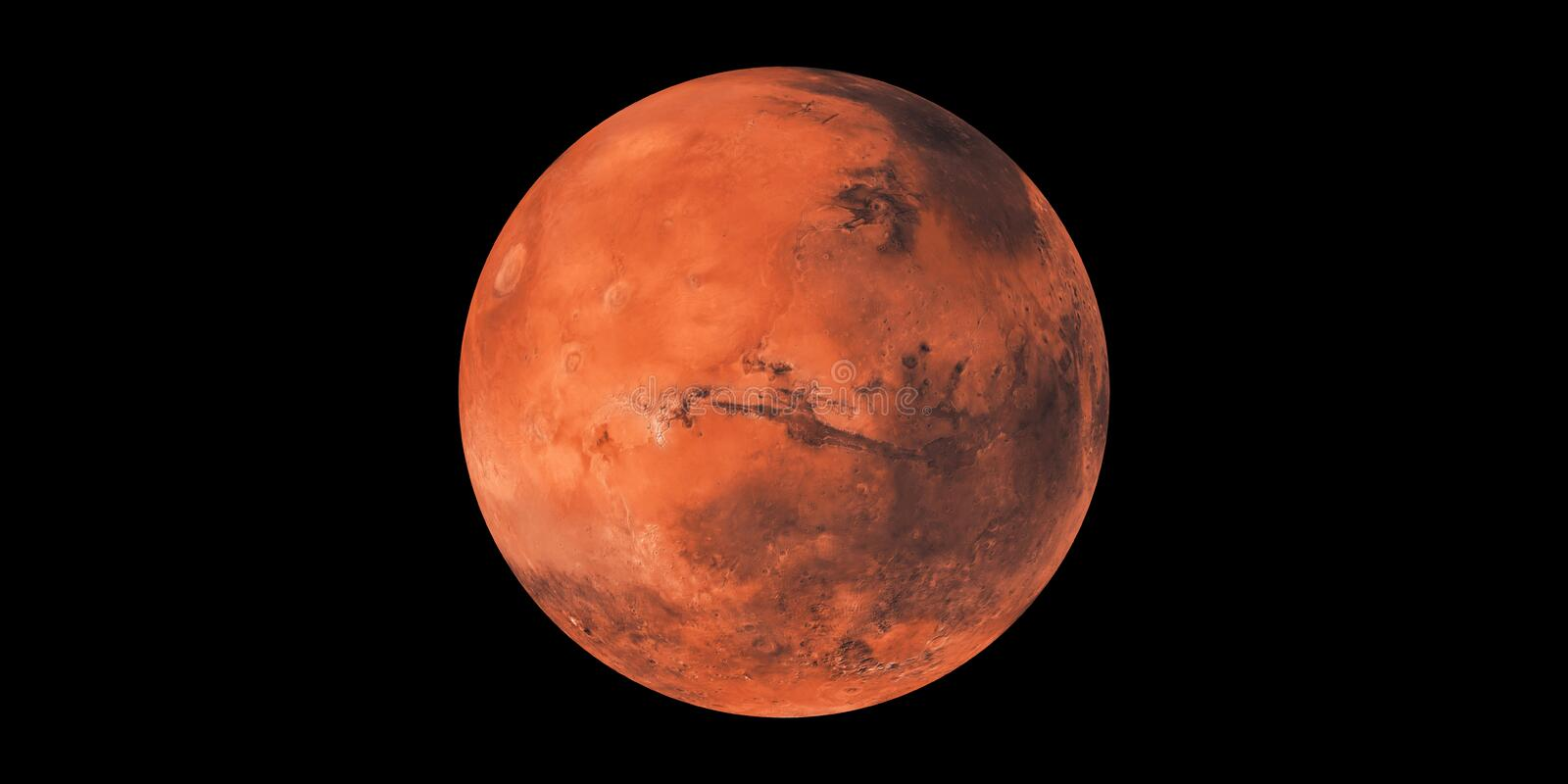 Planet Mars red planet sphere. Planet Mars red planet in our solar system in space