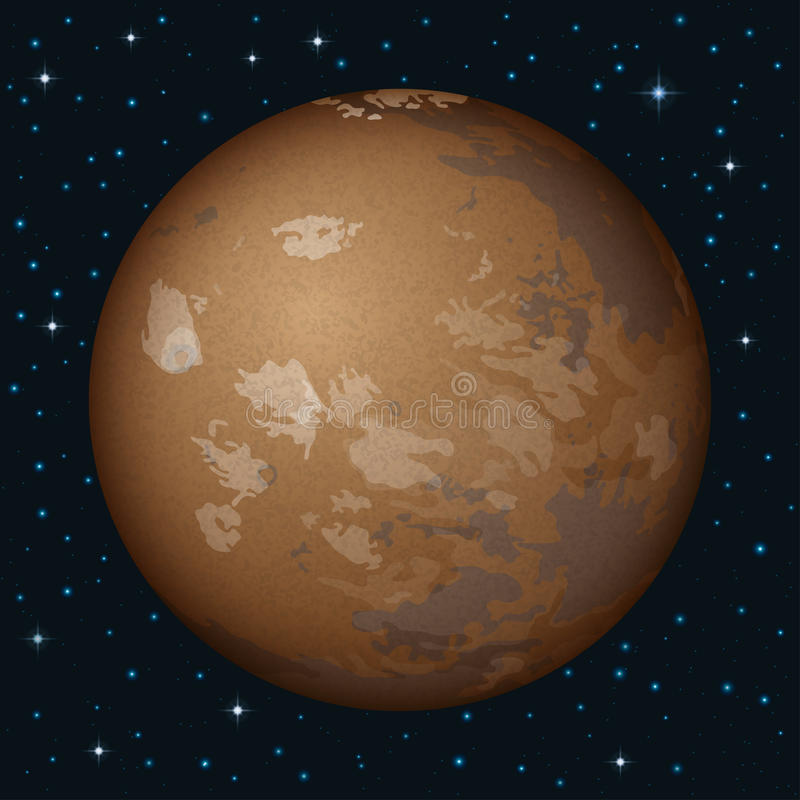 Planet Mars In Space Royalty Free Stock Image