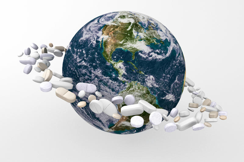 Download Planet With Medicines Royalty Free Stock Image - Image: 16348646