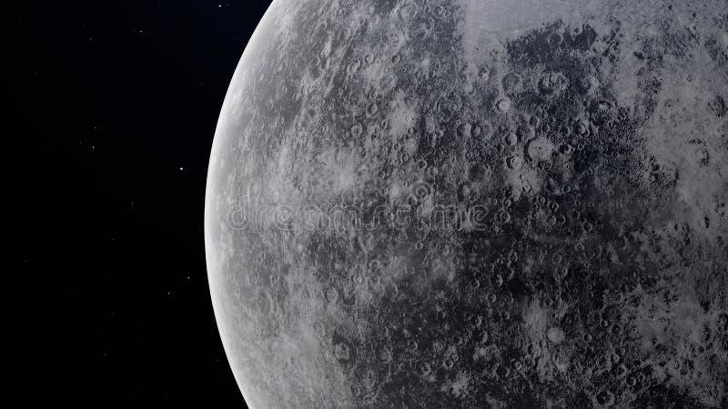 Planet Mercury Illustration 3D mit ausf?hrlicher Planetenoberfl?che stockfoto