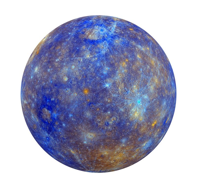 Planet Mercury Isolated Stock Illustration. Illustration