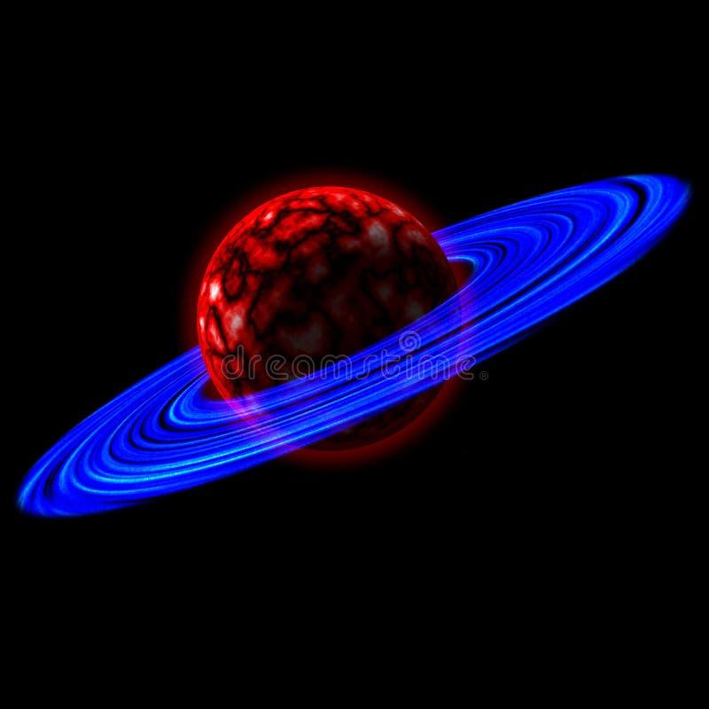 Planet mit Ringen lizenzfreies stockfoto