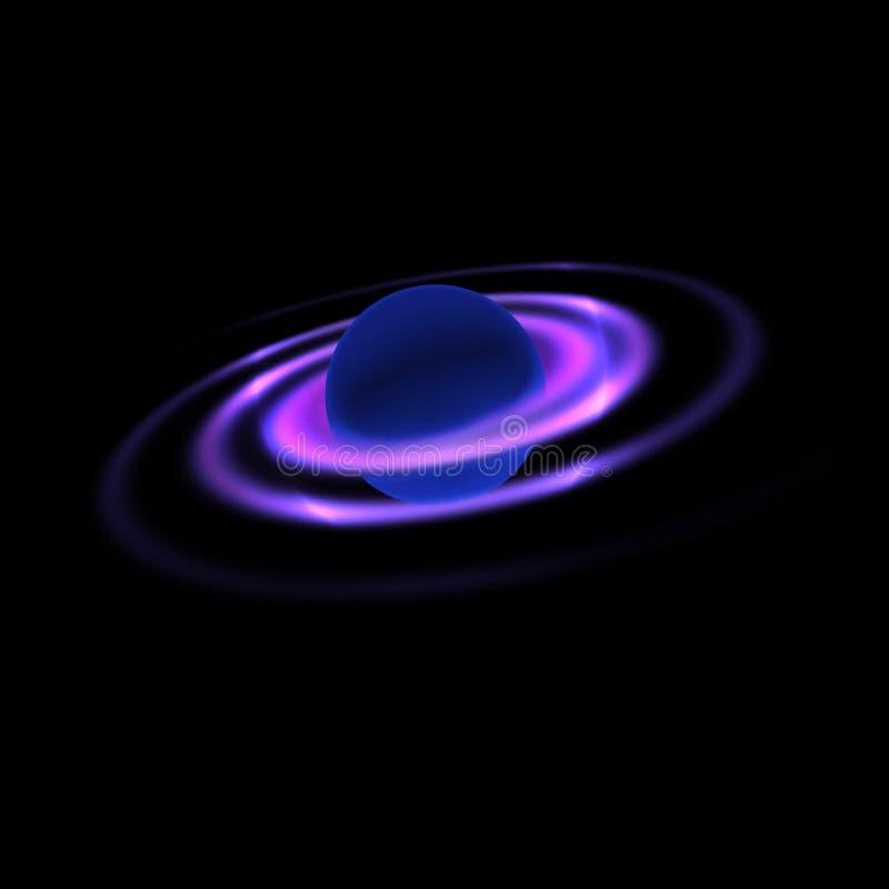 Planet mit Spiralen lizenzfreies stockfoto