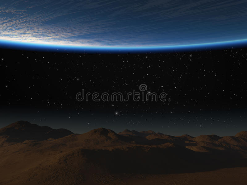Download Planet and moon surface. stock illustration. Illustration of orbit - 30797045