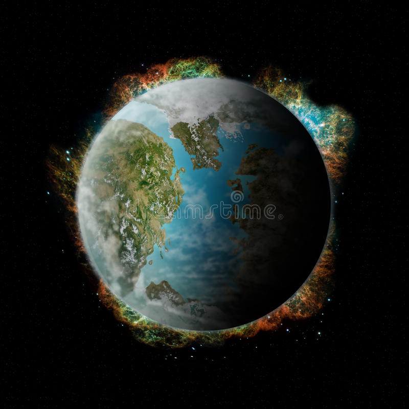 Download Planet Pandora stock illustration. Image of continent - 13832550