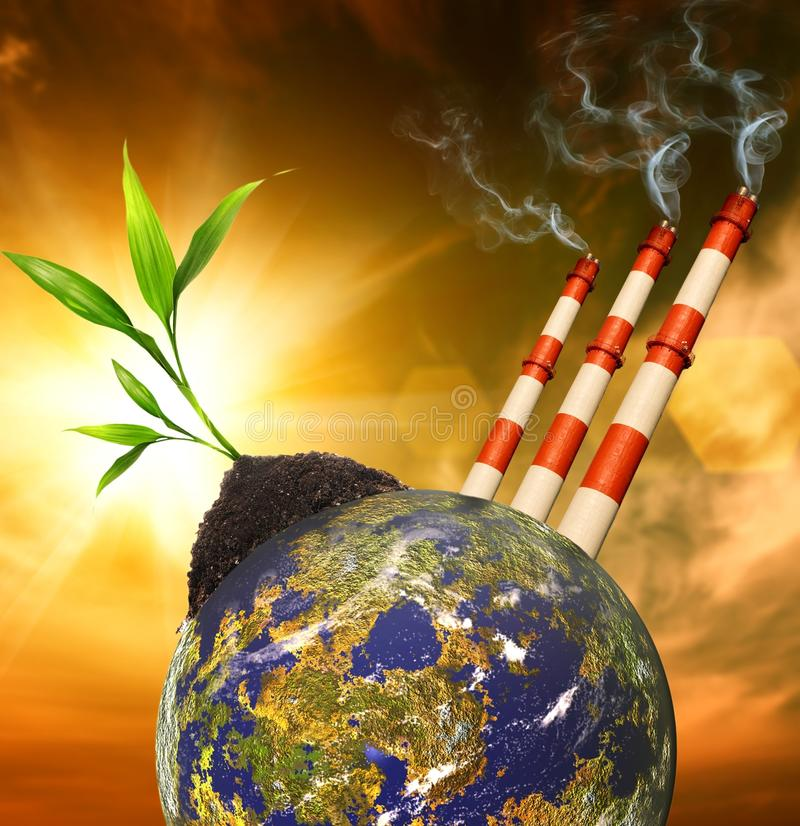 Free Planet Pollution Royalty Free Stock Photo - 13600525