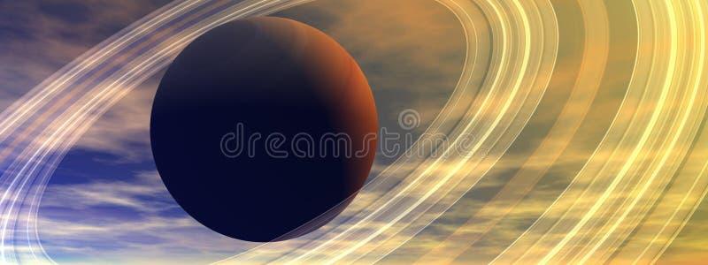 Planet Saturn lizenzfreie abbildung