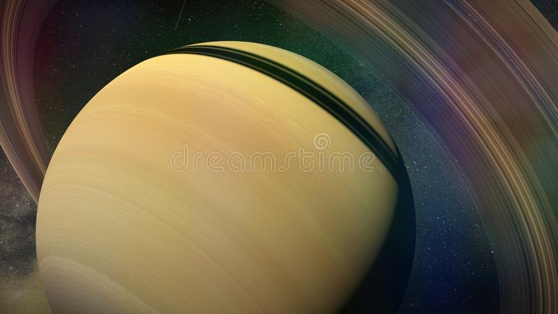 Planet Saturn close up royalty free stock photos