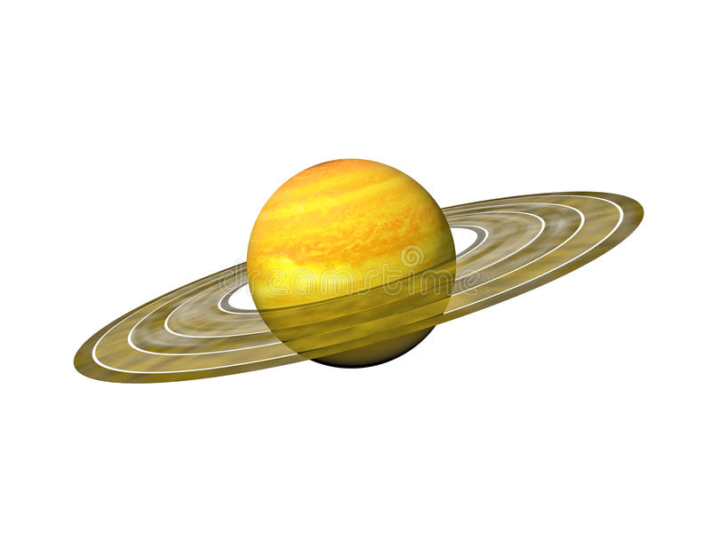 Planet Saturn with Rings royalty free stock image