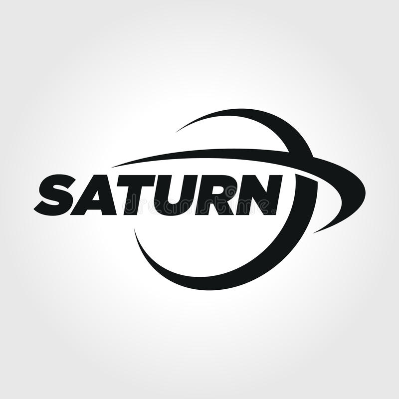 Planet Saturn Typography Symbol Illustration Stock Vector
