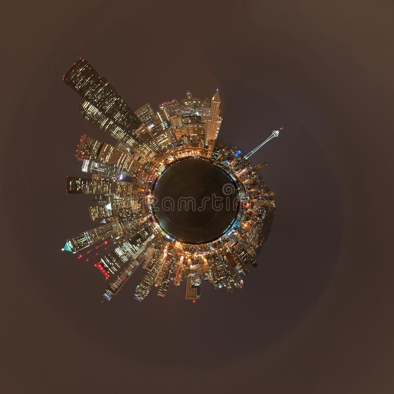 Planet Seattle royalty free stock photography