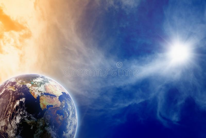Planet in sky stock photos