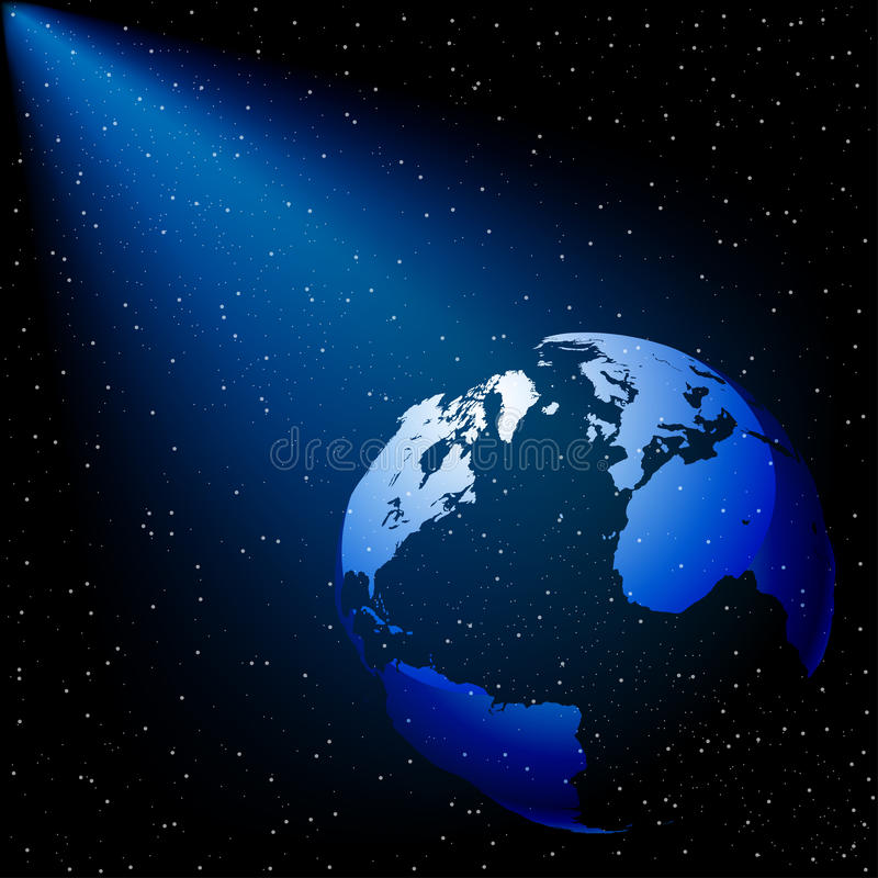 Download Planet in Space stock vector. Image of bright, flare - 18572462
