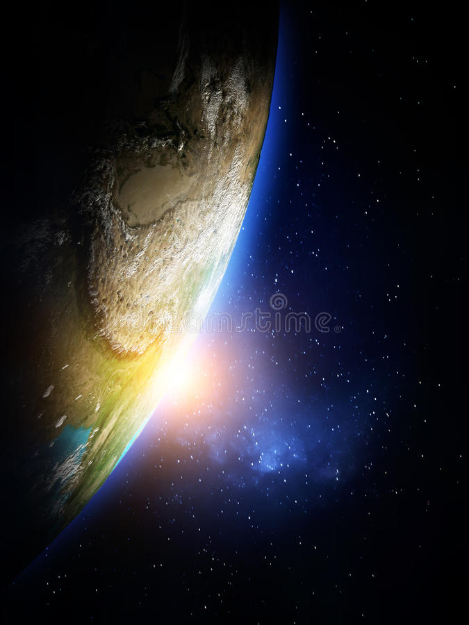 Planet from space royalty free illustration