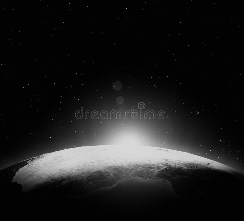 Planet from space stock image