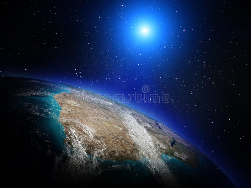 Planet from space royalty free stock images