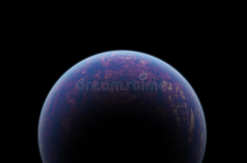 Planet in space royalty free illustration