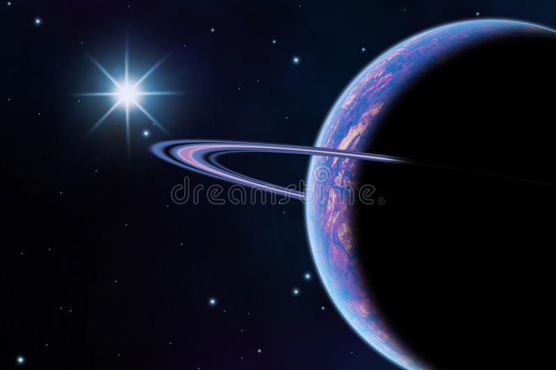 Planet in space vector illustration