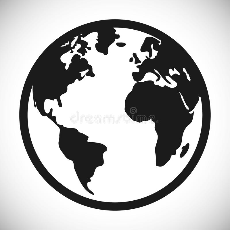 Planet Sphere Design Stock Vector Illustration Of Country 79677296 Rh  Dreamstime Com Globe Icon Vector Black And White Globe Vector Free Black  And White