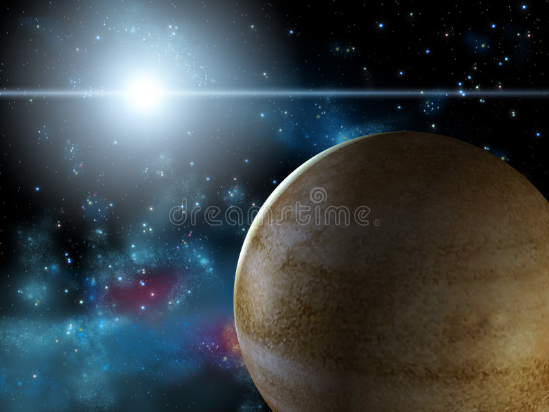 Planet and star royalty free stock images