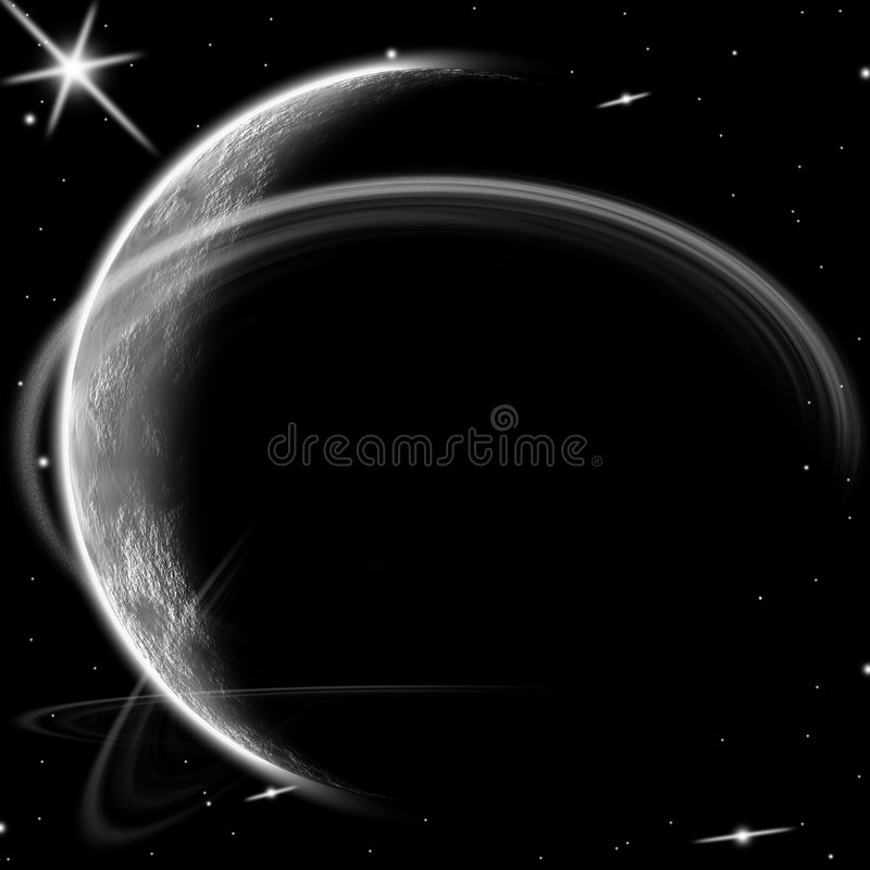 Planet and stars. royalty free stock images