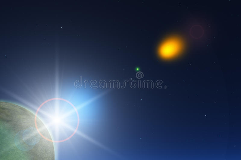 Download Planet with Sun stock illustration. Illustration of image - 10544849