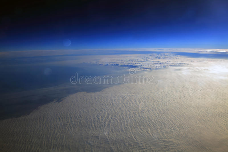 Planet surface. With a celestial body, desolate landscape stock photography