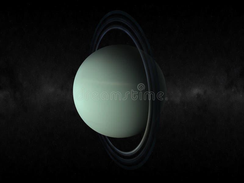 Planet uranus stock illustration