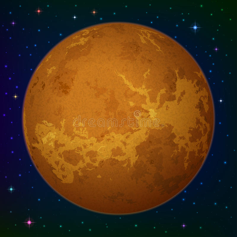 Download Planet Venus in space stock vector. Image of astronomy - 34414051