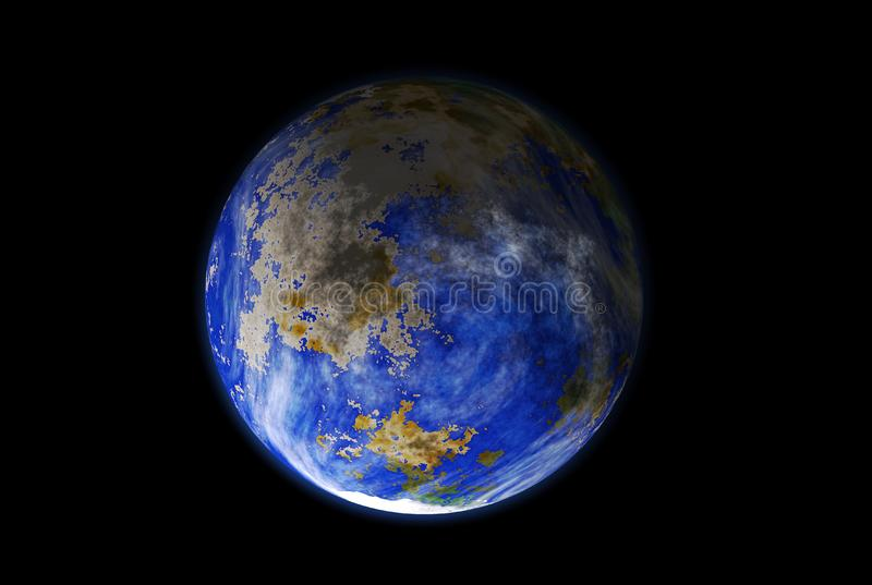 Planet viewed from space stock photography