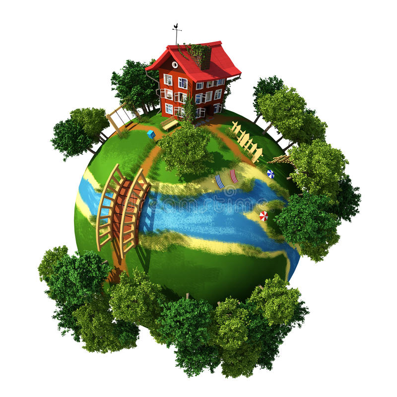 Planet Village stock photography
