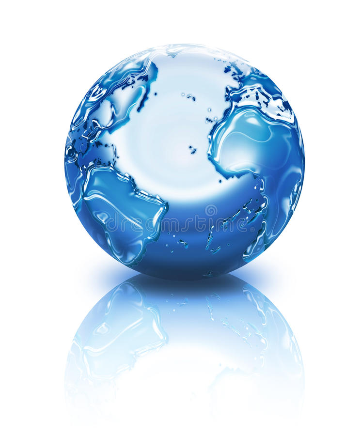 Download Planet with water droplets stock illustration. Image of earth - 13434956