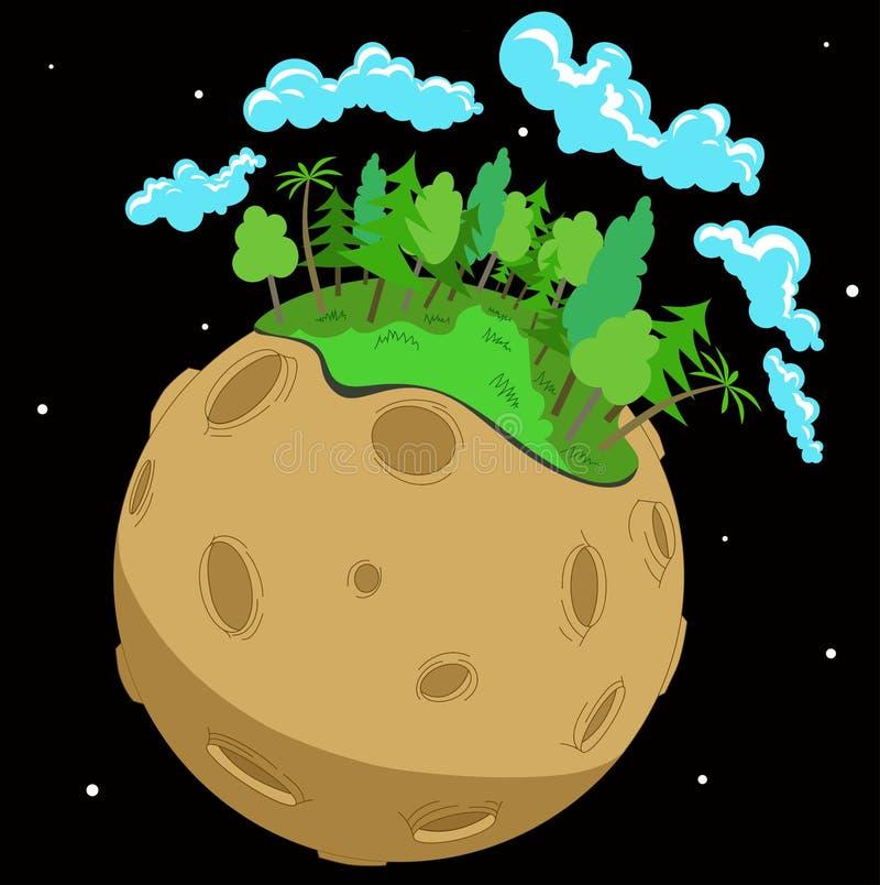 planeta ilustração royalty free