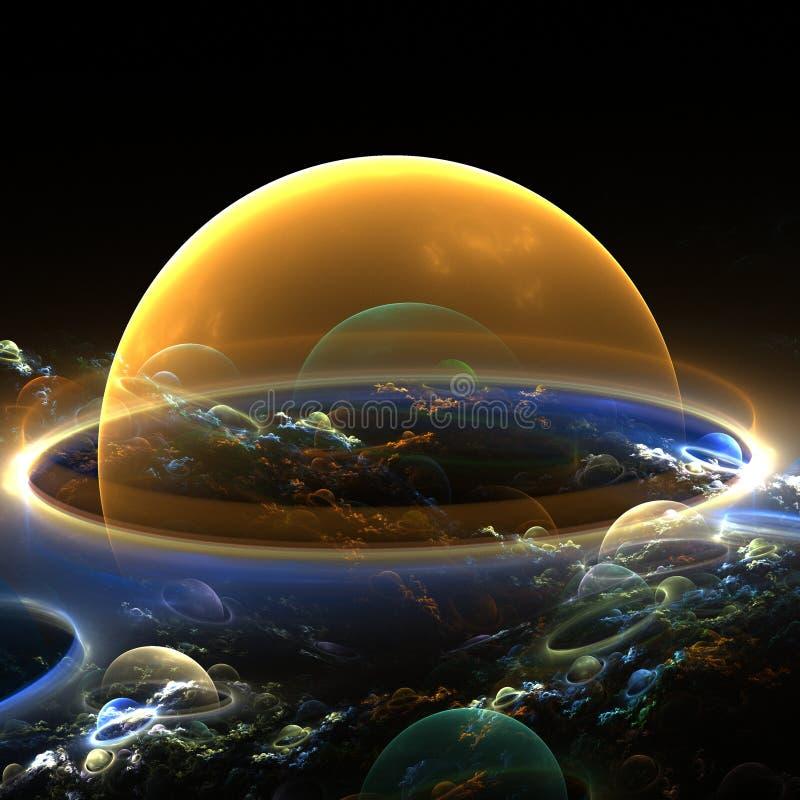 Planeta anaranjado ilustración del vector