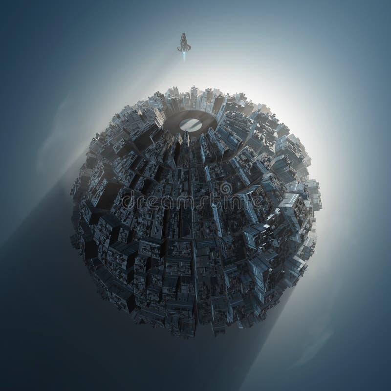 Planeta artificial ilustración del vector