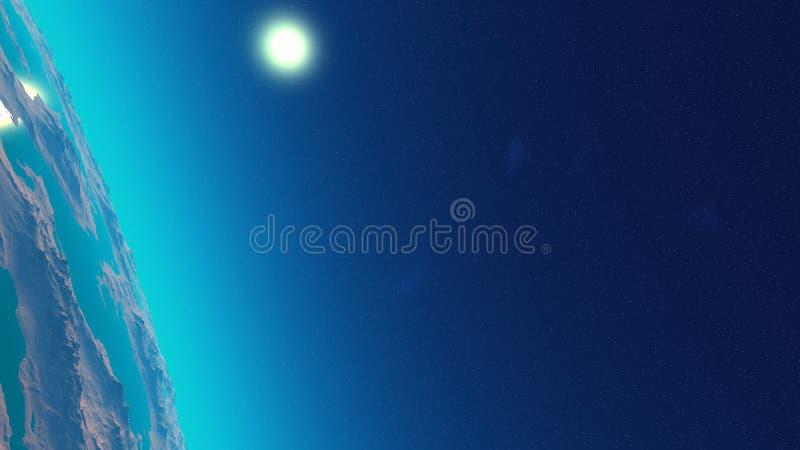 Download Planeta azul ilustração stock. Ilustração de cosmos, fantasy - 12804753