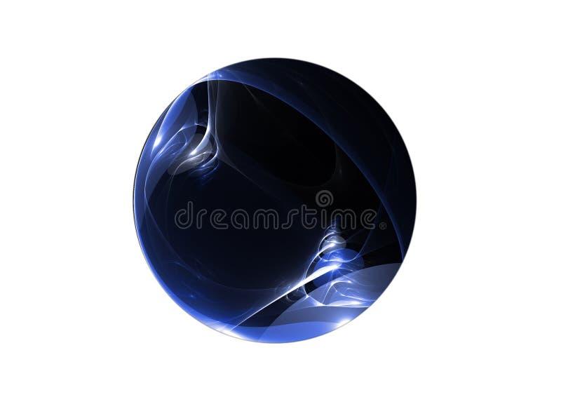 Planeta azul ilustração stock