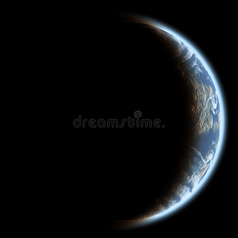 Planeta azul. ilustração royalty free