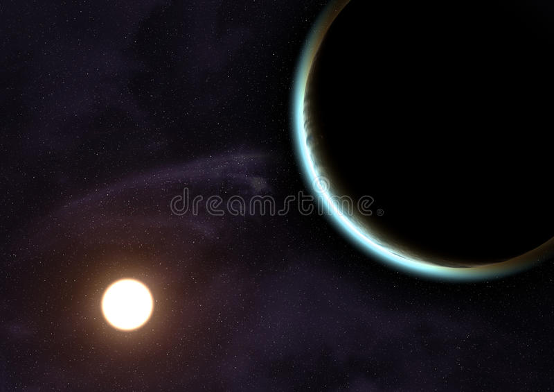 Planeta azul. ilustração stock