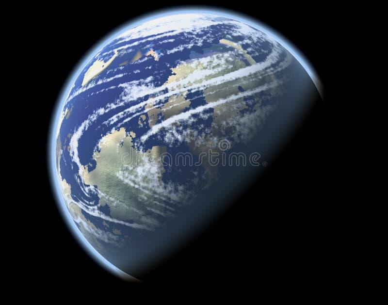 Planeta com clima ilustração royalty free