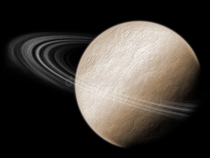 Planeta Con Los Anillos Imagenes de archivo