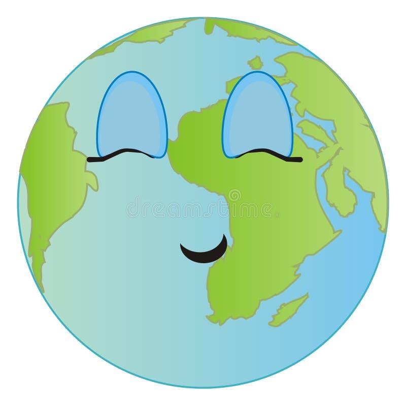Planeta con los ojos cerrados libre illustration