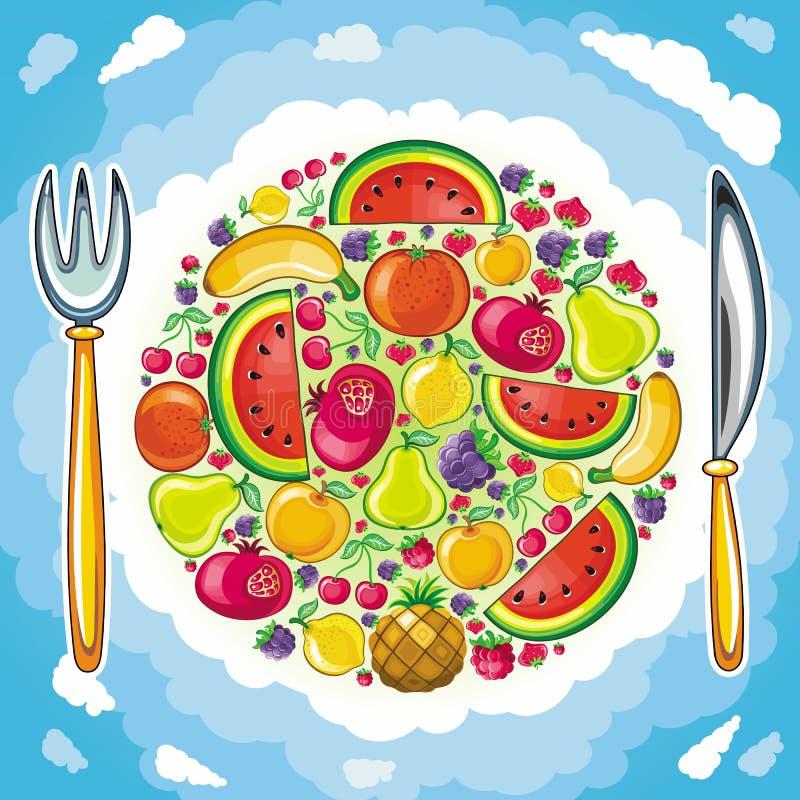 Planeta con sabor a fruta stock de ilustración