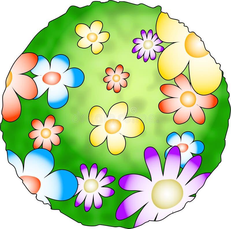 Planeta da flor ilustração royalty free