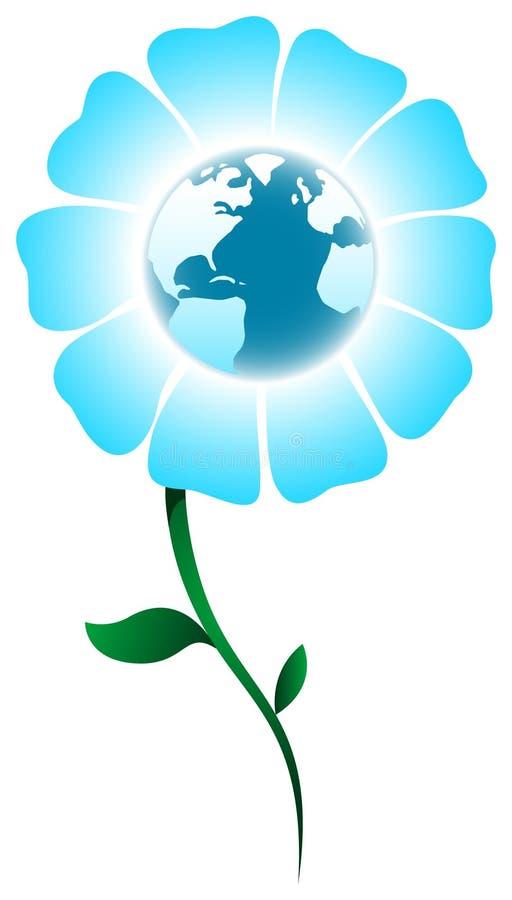 Planeta da flor ilustração do vetor