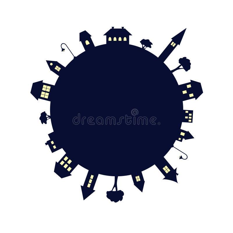 Planeta da noite ilustração royalty free