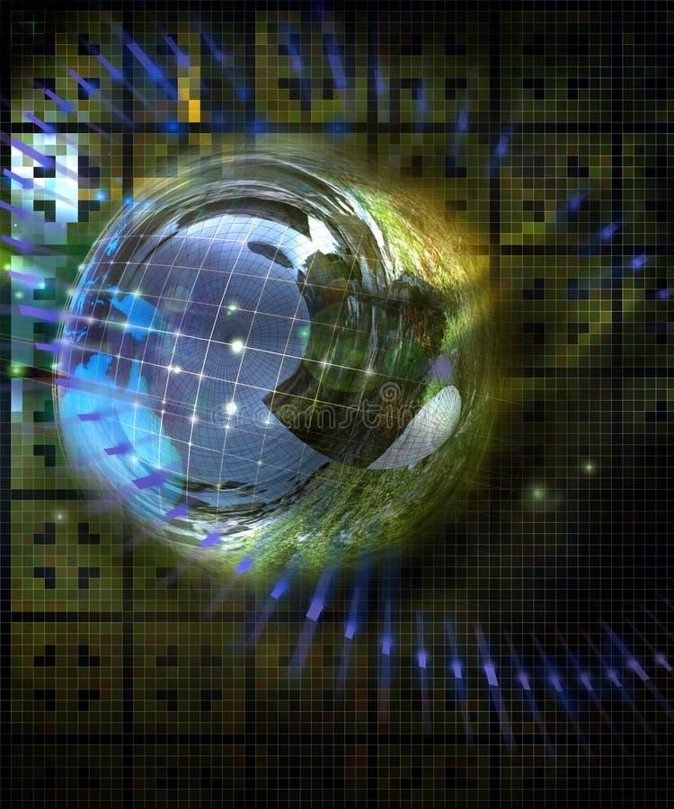 Planeta da tecnologia ilustração stock