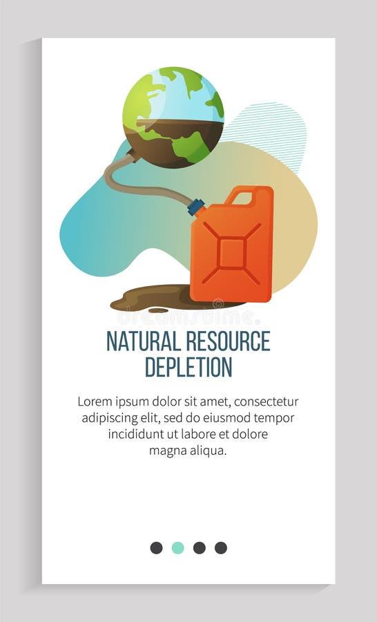 Planeta de agotamiento de recursos naturales y aplicación de registro libre illustration