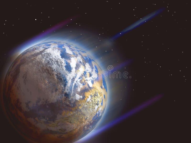 Planeta de la acometida ilustración del vector