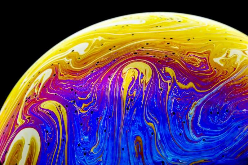 Planeta de la burbuja de jabón de la fantasía ilustración del vector